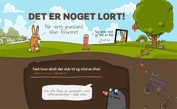 Forsiden af danmarks naturfredningsforenings nye hjemmeside